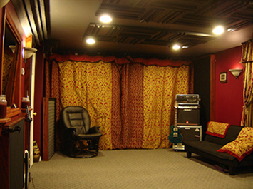 Acoustically treating a live room decor